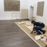 Studio space set up at Galerie Openspace