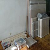 Paintings and other materials ready for the transporter